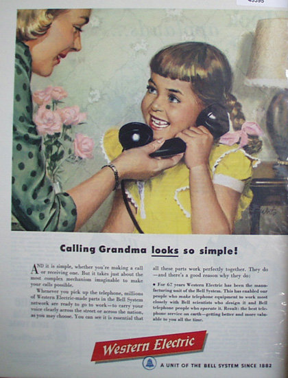 Western Electric Bell System 1949 Ad
