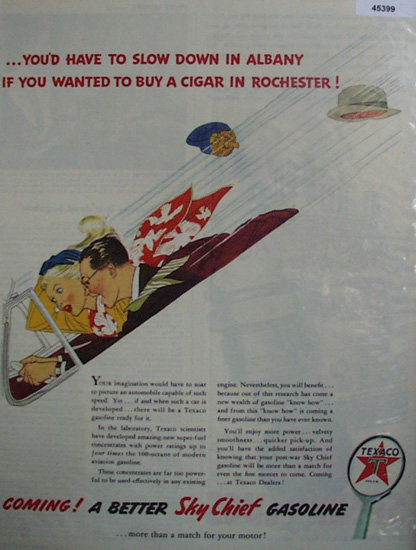 Texaco Sky Chief Gasoline 1944 Ad