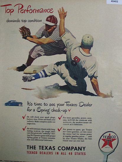 Texaco Dealers 1948 Ad