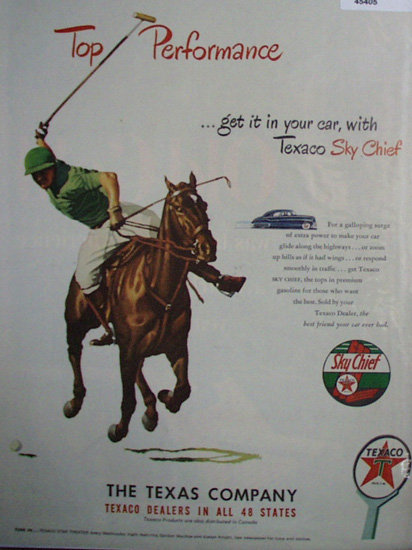 Texaco Sky Chief Gasoline 1948 Ad