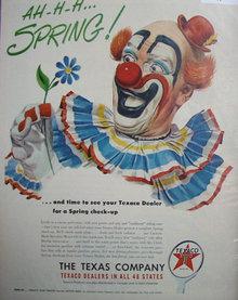 Texaco Dealers 1950 Ad.