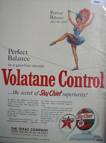 Texaco Sky Chief Gasoline 1950 Ad
