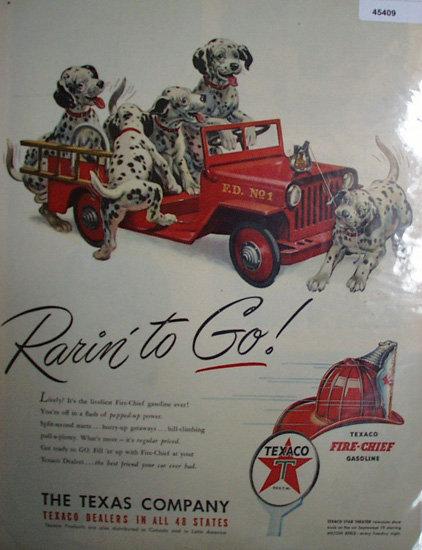 Texaco Fire Chief Gasoline 1950 Ad