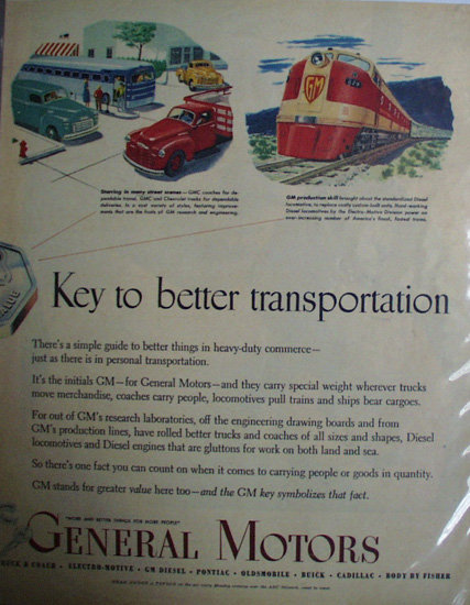 General Motors Automotive Research 1949 Ad