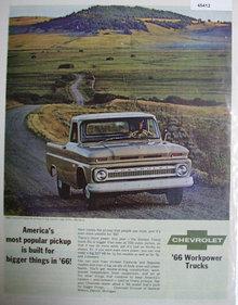 Chevrolet Workpower Trucks 1966 Ad.