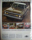 Chevrolet Fleetside Pickup 1969 Ad.