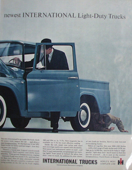 International Light Duty Trucks 1963 Ad.
