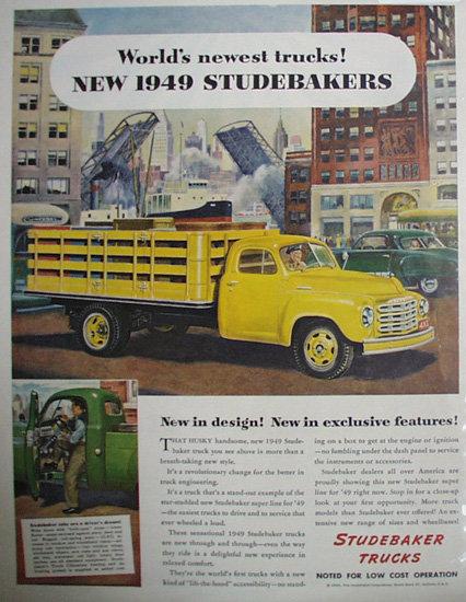Studebaker Trucks 1948 Ad.