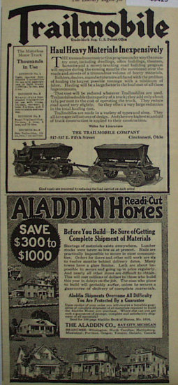 Trailmobile Motorless Motor Truck 1920 Ad.