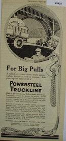 Powersteel Truckline 1920 Ad.