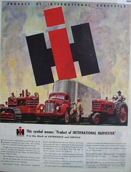 International Harvester Co. 1945 Ad.