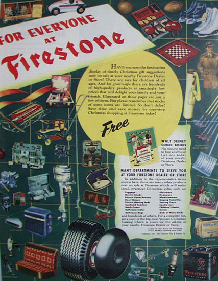 Firestone Dealer And Store 1947 Ad