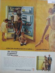 Frigidaire Refrigerator 1963 Ad.