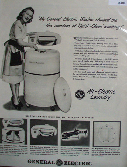 General Electric Washer 1948 Ad