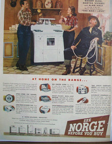 Norge Appliance 1946 Ad.