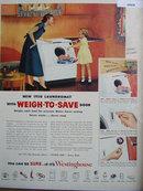 Westinghouse Laundromat 1950 Ad