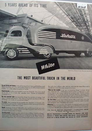 White Truck 5 Years Ahead of It's Time Ad 1937