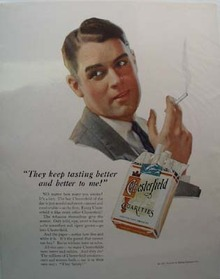 Chesterfield Keep Tasting Better Ad 1931