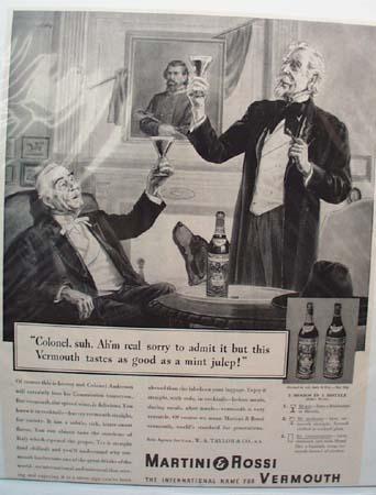Martini & Rossi Vermouth Ad The Colonel Says 1938