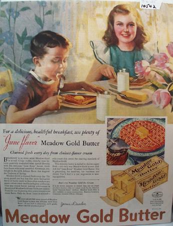 Meadow Gold Butter Healthy Breakfast Ad 1935