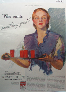 Campbell's Tomato Juice Something Good Ad 1936
