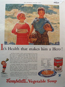 Campbell's Vegetable Soup Hero Ad 1933
