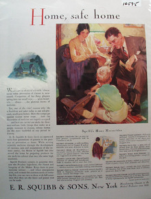 E R Squibb & Sons Safe Home Ad 1930