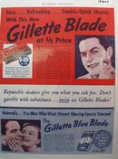 Gillette Blue Blade Don't Gamble Ad 1939