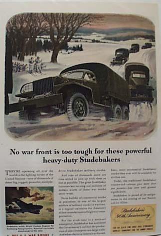 Studebaker's 90th Anniversary 1943 Ad