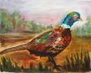 Pheasant painted on cavas board