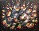Colorful abstract painting, Fireworks