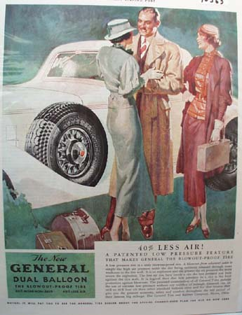 General Tire 40% Less Air Ad 1933