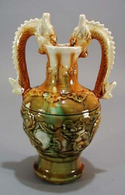 Double handled Dragon Vase