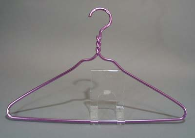 Aluminum Clothes Hangers (3), Purple