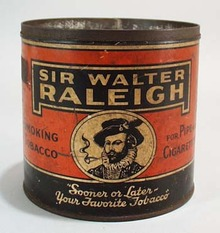 Sir Walter Raleigh Smoking Tobacco Tin,