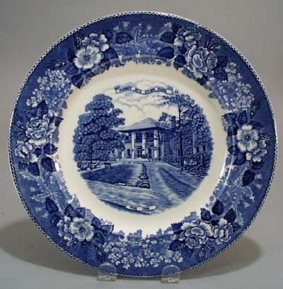 Jonroth Studios Turkey Run IN Collector Plate 1957