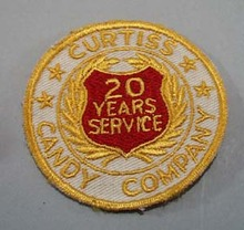Curtiss Candy company 20 yr service patch