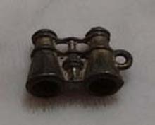 Old metal binoculars charm