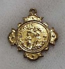 Brass Pendant, shows Birth of Christ and Baptism