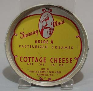Guernsey Maid cottage cheese metal lid