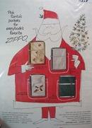 Zippo Lighter Santa Claus Ad 1954