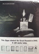Zippo Lighter Egypt Ad 1962  This is a November 16, 1962
