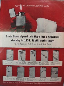 Zippo Lighter Christmas Ad 1963