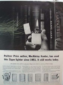 Zippo Lighter Pulitzer Prize Ad 1961