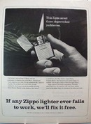 Zippo Lighter Saved Three Yachtsmen Ad 1966