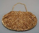 Sequin and bead evening purse.