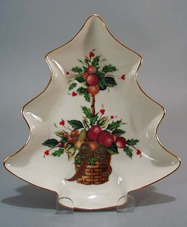 Lenox Holiday tree shaped bowl