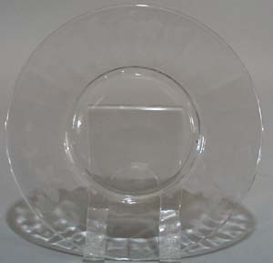 Crystal Plate with needle etch floral and leaf pattern