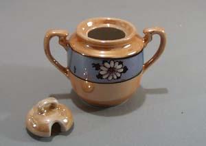 Lustre ware small sugar or condiment dish