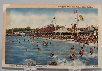 Toboggan Slide Indiana Beach Postcard